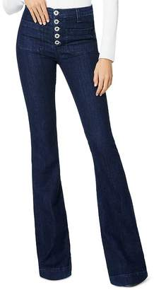 Ramy Brook Cindy High-Rise Flare-Leg Jeans in Dark Wash