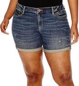 Arizona Midi Denim Shorts - Juniors Plus