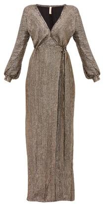 Maria Lucia Hohan Priela Sequinned Crepe Wrap Dress - Bronze