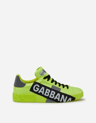 Dolce & Gabbana Portofino Sneakers In Fluorescent Nylon With Logotape
