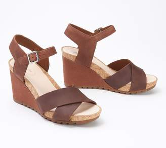 Clarks Leather or Suede Flexible Wedges - Flex Sun