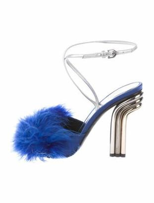 Marco De Vincenzo Leather Sandals Blue
