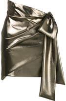 Saint Laurent asymmetric draped mini skirt