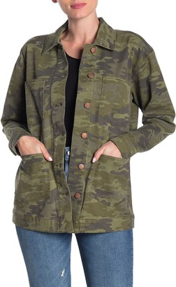 Love, Fire Camouflage Utility Jacket