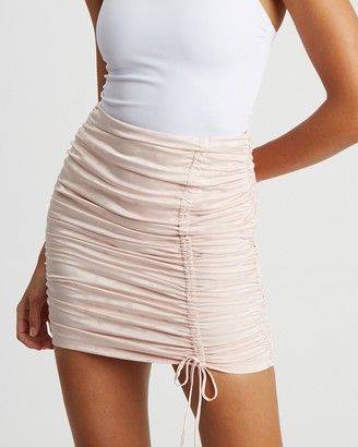 BWLDR - Women's Neutrals Mini skirts - Sangria Skirt - Size 6 at The Iconic