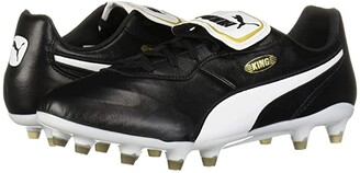 Puma King Top FG Black White) Men's Soccer Shoes
