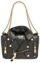 Moschino 'Biker Jacket' Shoulder Bag - Black