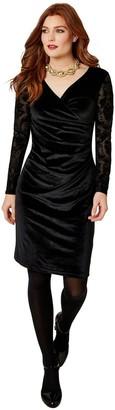 Joe Browns Flirty Velvet Dress - Black