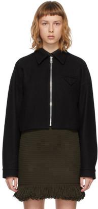 Bottega Veneta Black Felted Wool Jacket