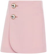 Marni Pink Double Worsted Wool Mini Skirt