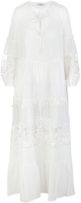 Blumarine Long Embroidered Kaftan Dress