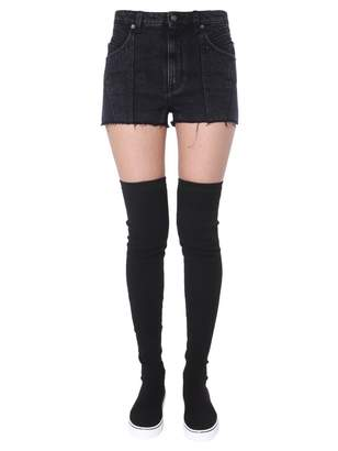 Givenchy Denim Frayed Hem Shorts