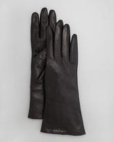 Portolano Four-Button Leather Gloves, Teak