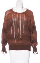 Raquel Allegra Cashmere Distressed Sweater