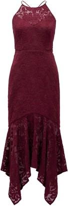 Ever New Shakira Hanky Hem Lace Midi Dress