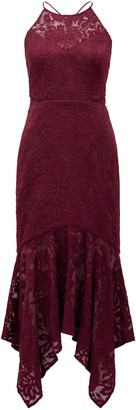Ever New Shakira Hanky Hem Lace Midi Dress