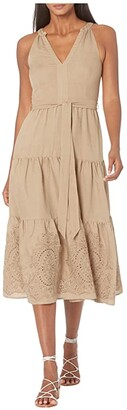 Parker Santana Dress (Utility Tan) Women's Clothing