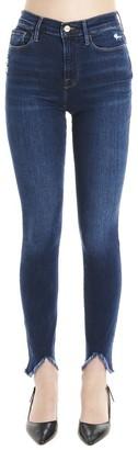 Frame Fringed Hem Skinny Jeans