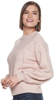 JLO by Jennifer Lopez Women's Knitted Mock Neck Pullover