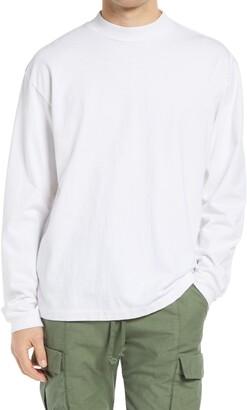John Elliott University Men's Long Sleeve Mock Neck T-Shirt