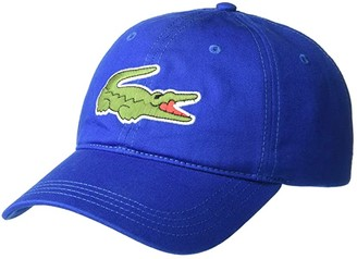 Lacoste Big Croc Twill Leatherstrap Cap (Purpy) Baseball Caps