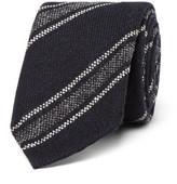 Drakes Drake's - 8cm Striped Wool Tie - Navy