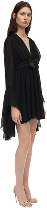 Giamba Georgette High Low Mini Dress