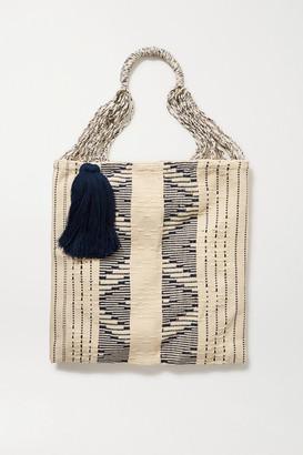 Nannacay Net Sustain Bianca Tasseled Crocheted Cotton-blend Tote - Cream