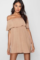 boohoo Pixie Off The Shoulder Swing Dress