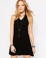 Glamorous Patchwork Halter Dress