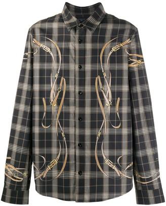 Amiri Falcon Belt Flannel Shirt