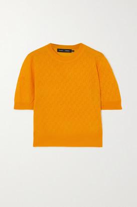 Proenza Schouler Cropped Pointelle-knit Merino Wool Sweater - Yellow