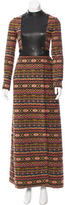 Valentino Double-Breasted Tapestry Coat w/ Tags