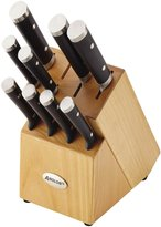 Anolon Cutlery 11-Piece Japanese Stainless Steel Knife Set, Black