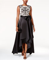 Betsy & Adam Lace Illusion Ball Gown