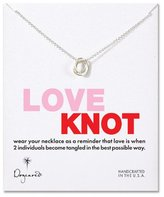 Dogeared Jewelry love knot necklace sterling silver 18 inch
