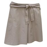 Max Mara Beige Cotton Skirt