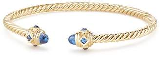 David Yurman Renaissance Bracelet with Light Blue Sapphire in 18K Gold