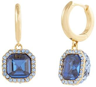 Kate Spade Brilliant Statements Pave Drop Earrings (Sapphire) Earring