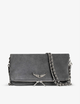 Zadig & Voltaire Rock suede cross-body bag