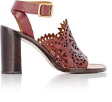 Chloé Women's Cutout-Detailed Sandals-BROWN, BURGUNDY