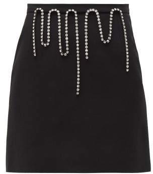 Christopher Kane Crystal-embellished Crepe Mini Skirt - Womens - Black
