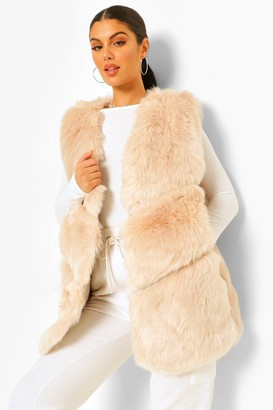 boohoo Luxe Faux Fur Panelled Gilet
