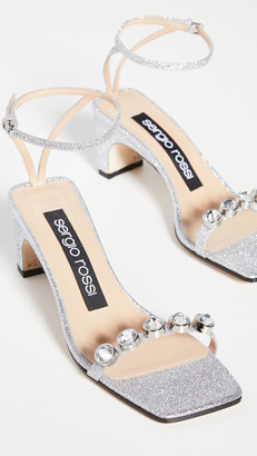Sergio Rossi Embellished Ankle Strap Sandals