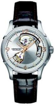 Hamilton Jazzmaster Open Heart Auto Stainless Steel& Embossed Leather Strap Watch