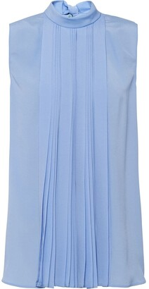 Prada Pleated Sleeveless Blouse
