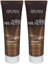 John Frieda Brilliant Brunette Liquid Shine Illuminating Shampoo - 8.45 oz - 2 pk
