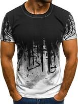 Mens Short Sleeve Plain T Shirt Slim Fit Blouse Tops Summer Shirts Muscle Tee UK