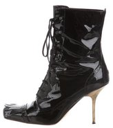 Michel Perry Lace-Up Kiltie Ankle boots