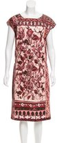 Alberta Ferretti Printed Midi Dress w/ Tags